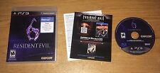 Resident Evil 6 Playstation 3 Game Complete Fun PS3 Games