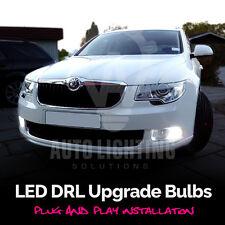 2x Skoda Octavia Fabia DRL Daytime LED Xenon White Lights Bulbs *SALE*