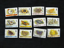 Swaziland:  1991 Butterfly Definitive set 5c to 1E, good to fine used.