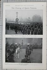 1901 PRINT PASSING OF QUEEN VICTORIA KING EDWARD 21st LANCERS
