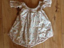 Next girls pink cotton floral off shoulder top age 5 years