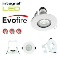 Integral LED EvoFire Rated IP65 Downlight Recessed + GU10 Ceiling Spot Lights
