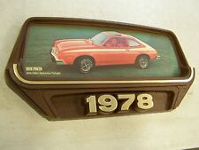 Oem Ford 1978 Pinto Rallye Showroom Display Picture