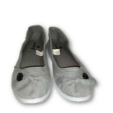 Kinetic Energy Gray Jersey Knit Padded Insole Comfort Ballet Sneakers SZ 8 New