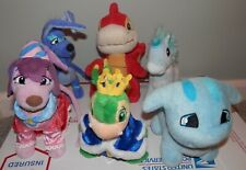 Neopets Plush red Scorchio 7� royal Galert Boy And Girl lot of 6 plush