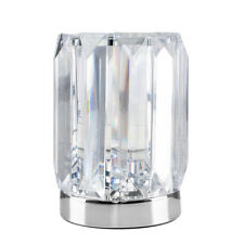 Modern Silver  Chrome  Acrylic Crystal Touch Bedside Table Lamp Lights Lamps