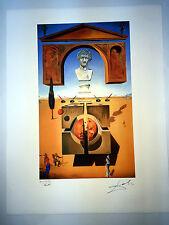 Salvador Dali Litografia 50 x 65 Bfk Rives Timbro a secco Firmata a Matita D201