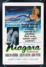 NIAGARA * CineMasterpieces MARILYN MONROE HOLLYWOOD ORIGINAL MOVIE POSTER 1953