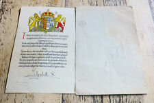 Royal Commemorative Scroll for giving Care & Hospitality to Evacuees