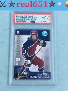 2004 ITG Heroes #118 ALEX OVECHKIN Rookie-Prospects | PSA 8 NM-MT | Capitals RC