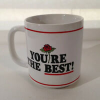 Vintage 1982 Coffee Mug You're The Best Secretary Rose Wallace Berrie Retro Gift