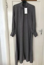 Zara Grey/black Check Flowing Vintage LOOK Midi Dress Size XS