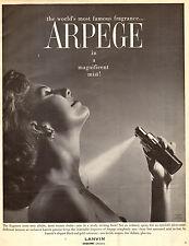 1958 vintage perfume AD, ARPEGE by LANVIN  fragrance ad 112814