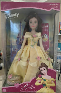 Disney Belle Porcelain Keepsake Doll with Jewelry Box Brass Key Collectiibles