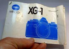 Minolta Camera XG-1 Owner's Manual Guide instructions (EN) 7210062