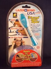 As Seen on TV Lazer Bond 3 Second Fix- UV Light Repair Tool Liquid Plastic Weld