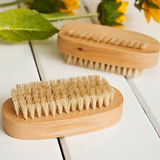 Manicure Bristle Brush Fingernail Wood Handle Nail Hand Foot Nails Clean YHH