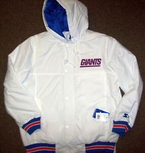 NEW YORK GIANTS Limited Ed NFL Starter Hooded Parka Jacket WHITE M,  L, XL, 2X