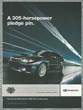 2008 SUBARU IMPREZA advertisement, Subaru Impreza WRX STI sedan