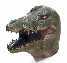 Realistic Alligator Adult Size Men Women Latex Mask Halloween Costume Accessory