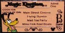 Disney Pin: WDW Cast Lanyard Series 3 Magic Kingdom Ticket B/Pluto Hidden Mickey