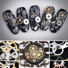 Lots 150 X DIY 3D Metal Time Wheel Gear Steam Punk Manicure Tips Nail Art Decor