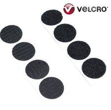 Puntos De Velcro ® marca 22mm Negro Auto Adhesivo Pegajoso monedas Bucle Gancho (50) (50)
