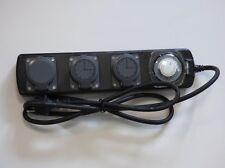 3fach Steckdosenleiste mit Zeitschaltuhr IP44 schwarz B6410