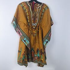 African Print Women's One Size Adjustable Caftan Dress