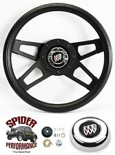 "1973-1987 Regal steering wheel BUICK 13 1/2"" BLACK 4 SPOKE steering wheel"