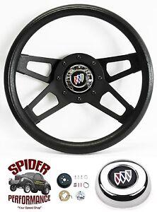 """1973-1987 Regal steering wheel BUICK 13 1/2"""" BLACK 4 SPOKE"""