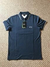 Hugo Boss Navy Curved Logo Slim Fit Polo Size XXL RRP £79 New Season