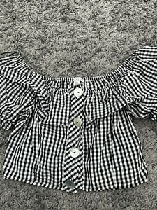 Topshop Gingham Top Size 10