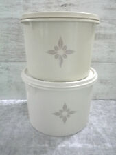 """TUPPERWARE 4.5"""" AND 5"""" CANISTER BOWL TAN  VINTAGE ~ #264 & #265"""