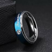 USA Couples Stainless Steel Forever Love Ring Wedding Engagement Charm Band New