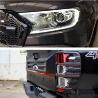 For Ford Ranger LED Headlights Cover + Taillights Trims Series Cover 2015-2017