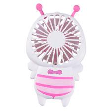 BEE Shape Small USB Fan Desk Handheld Personal Fan with Night Light _Pink