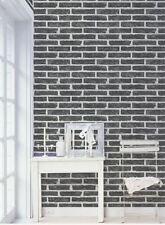 Carta da parati 3d vinilica a rilievo lavabile effetto mattoni design moderno e