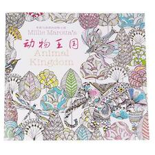 1pcs Funny Animal Kingdom Child Adult Colouring Drawing In Art Therapy Books C