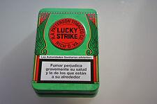 LUCKY  STRIKE Tobacco Metal Tin Box Tabaco Pitillera Metálica Verde 01 Green