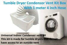Faure 4 inch Tumble Dryer Condenser Air Vent Kit White Indoor Box