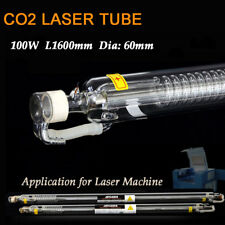 100 W L1600mm CO2 Laser Tube Verre Head D60mm Co2 marquage laser cutting machine