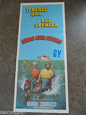 ODDS AND EVENS ORIGINAL DAYBILL CINEMA POSTER 1978 Terence Hill Bud Spencer