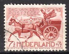 Netherlands - 1943 Stamp day / Coach Mi. 422 VFU