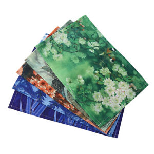 Chinese Style Flower Placemats Tableware Dining Table Mat Pad Coaster kitchen FI