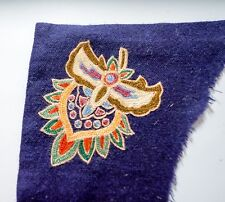 UNUSUAL, INTERESTING ANTIQUE TEXTILE EMBROIDERY FRAGMENT SILK FELT INDIA? UZBEK?
