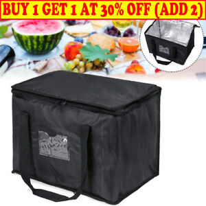 LARGE FOOD DELIVERY INSULATED BAGS PIZZA TAKEAWAY THERMAL WARM/COLD BAG RUCK