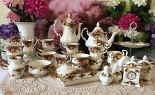 Royal Albert Old country Roses bone china tea and coffee set 1962s, 1st quality