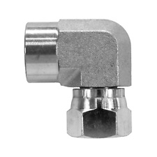 1502 02 04 Hydraulic Fitting 18 Female Pipe X 14 Female Pipe Swivel 90