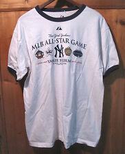 Vtg 2008 MLB All Star Game NY YANKEES STADIUM Ringer Tee T-Shirt L 100% cotton
